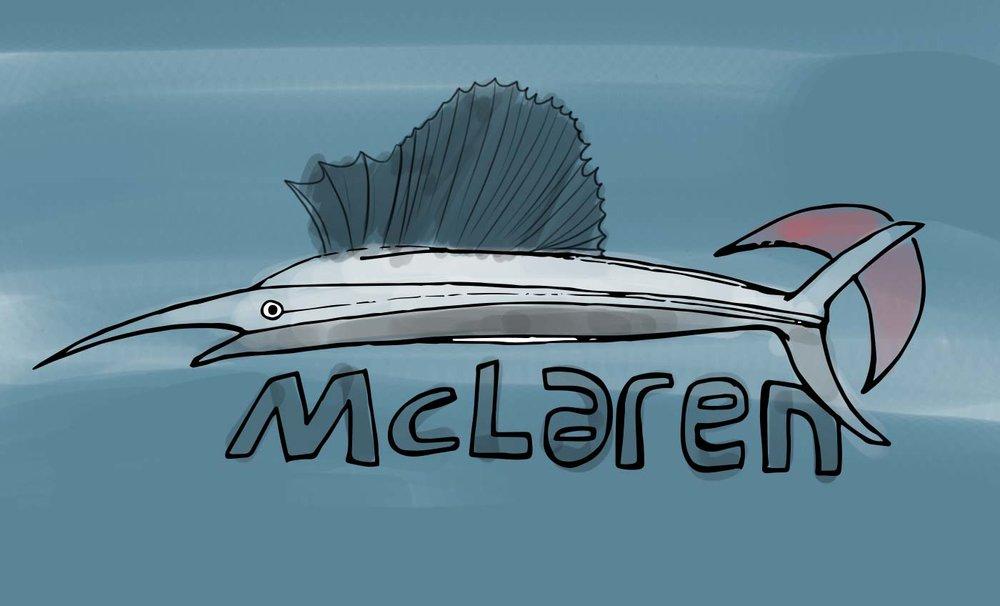 how a sailfish influenced the design of the mclaren p1 hyper car