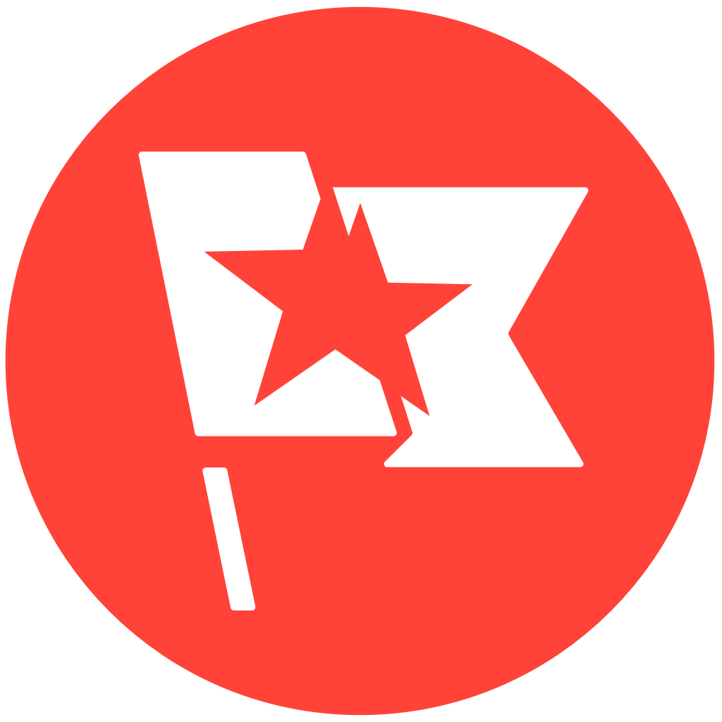 Red flag logotyp