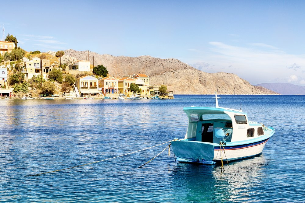 AEGEAN WATERS OF THE HARBOUR • Symi