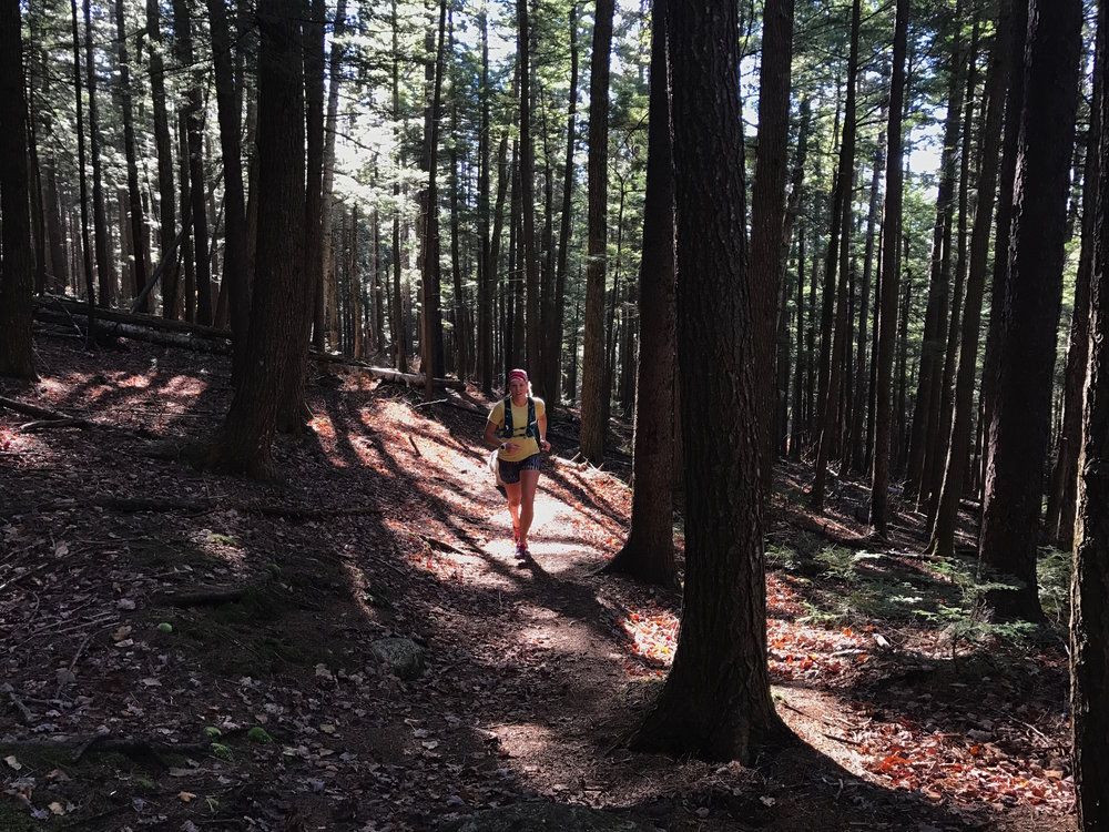 Fall trail run on the Tamworth side of Mt. Chocorua.
