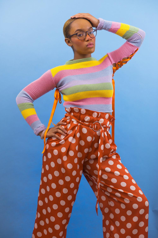Millie Pastel Rainbow Jumper  (Item #Millie-0014)