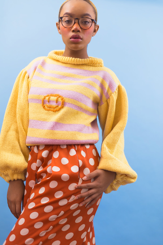 Bella Pink and Yellow Jumper  (Item #Bella-0015)
