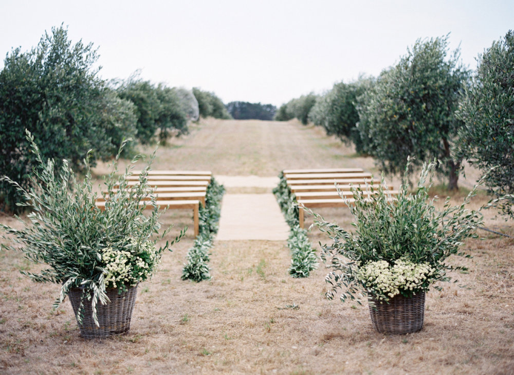 Timber wedding ceremony benches