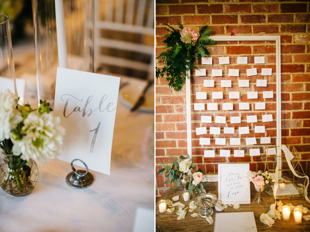 Wire frame for escort cards