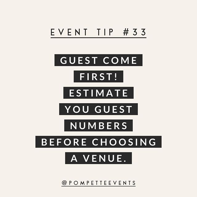 How many guests are you having at your wedding? Our tips is to make sure to get a ballpark number  George you secure a venue so you aren't stuck with a venue too small (or too big) for your guest list 😉 ⠀⠀⠀⠀⠀⠀⠀⠀⠀ .⠀⠀⠀⠀⠀⠀⠀⠀⠀ .⠀⠀⠀⠀⠀⠀⠀⠀⠀ .⠀⠀⠀⠀⠀⠀⠀⠀⠀ .⠀⠀⠀⠀⠀⠀⠀⠀⠀ .⠀⠀⠀⠀⠀⠀⠀⠀⠀ #pompettetips #eventtips #eventplanning #eventstyling #weddingstylist #eventdesign #eventdecor #eventstylist #perthevents #weddingplanning #communityovercompetition #loverly #therisingtidesociety #makewavesmonday #eventplanner #risingtidesociety #weddingdecor #weddingdesign #weddingdetails