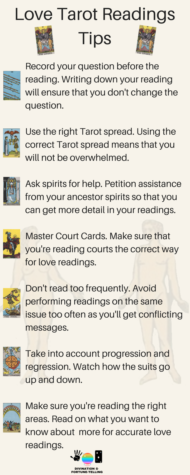Your Love Tarot card reading free and interactive