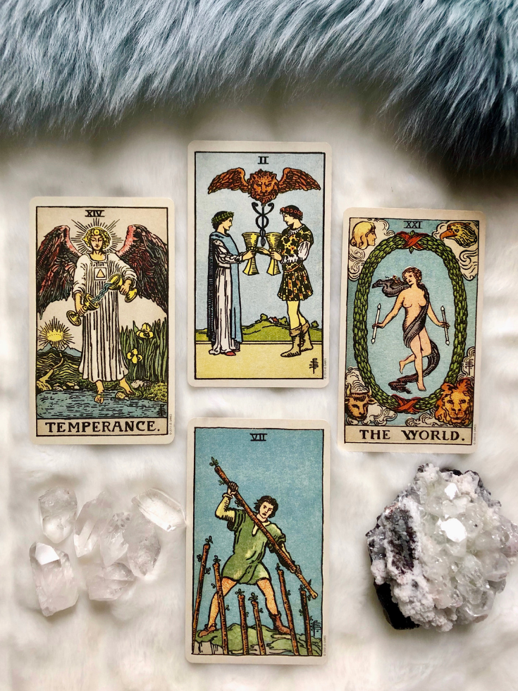 Art illustration: How to buy a Tarot card deck for beginners! You can purchase your own deck, do not confuse Tarot with oracle or Lenormand cards, get familiar with a Rider Waite Smith deck, and learn how to read the basics of Tarot, including the meanings.