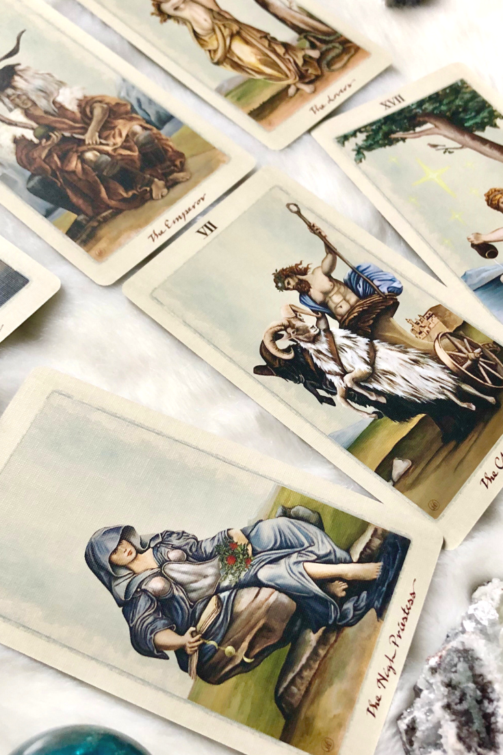 In the moment of a stressful Tarot card reading, you will not always know the right time to make certain statements. Like the High Priestess, you must use your intuition when making judgements.- Card Deck is The Pagan Otherworlds Tarot