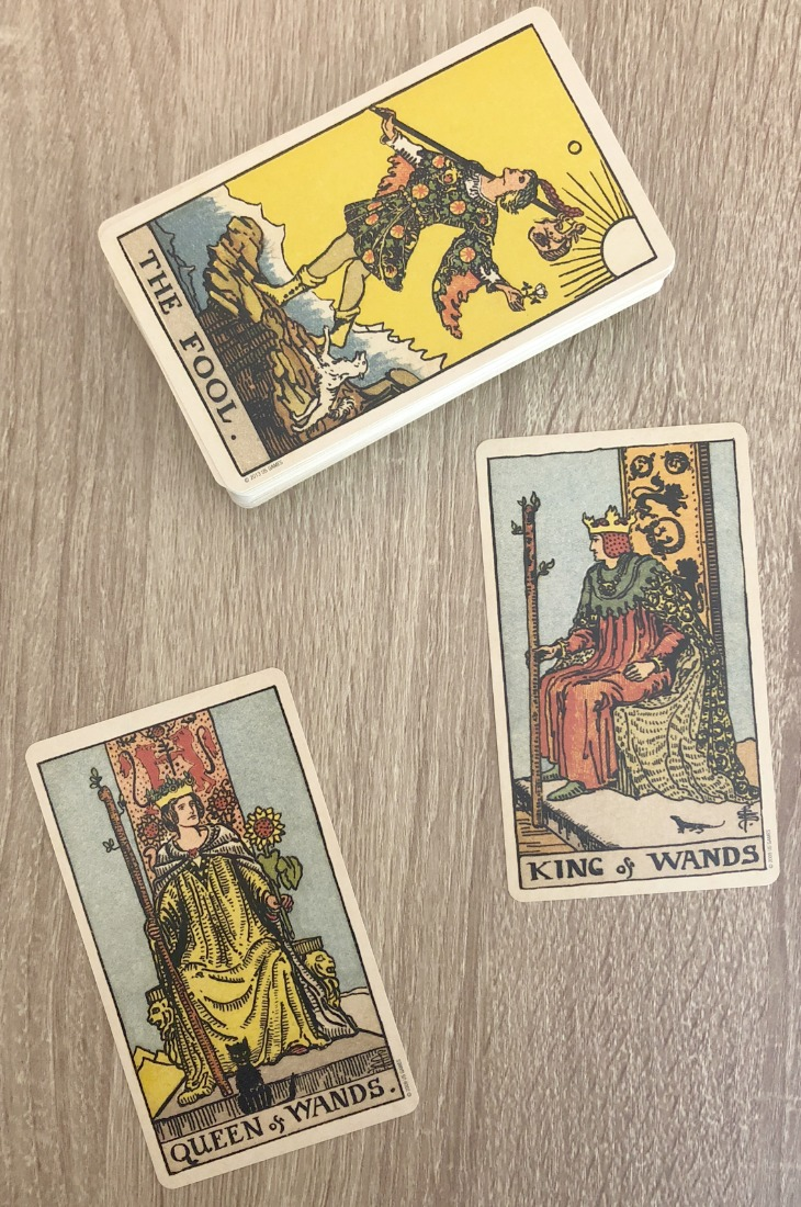The Queen of Wands and the King of Wands in combination in a Tarot card reading.