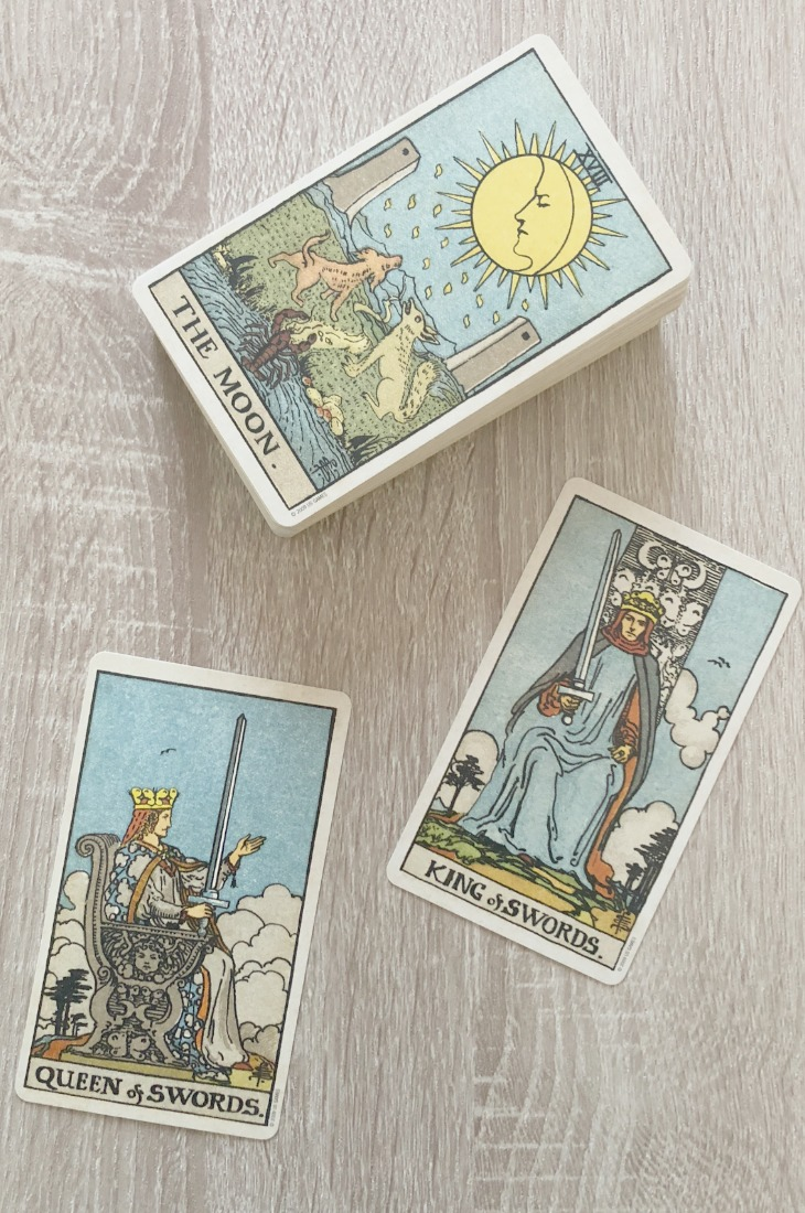 The King of Swords and Queen of Swords in combination in a tarot reading.