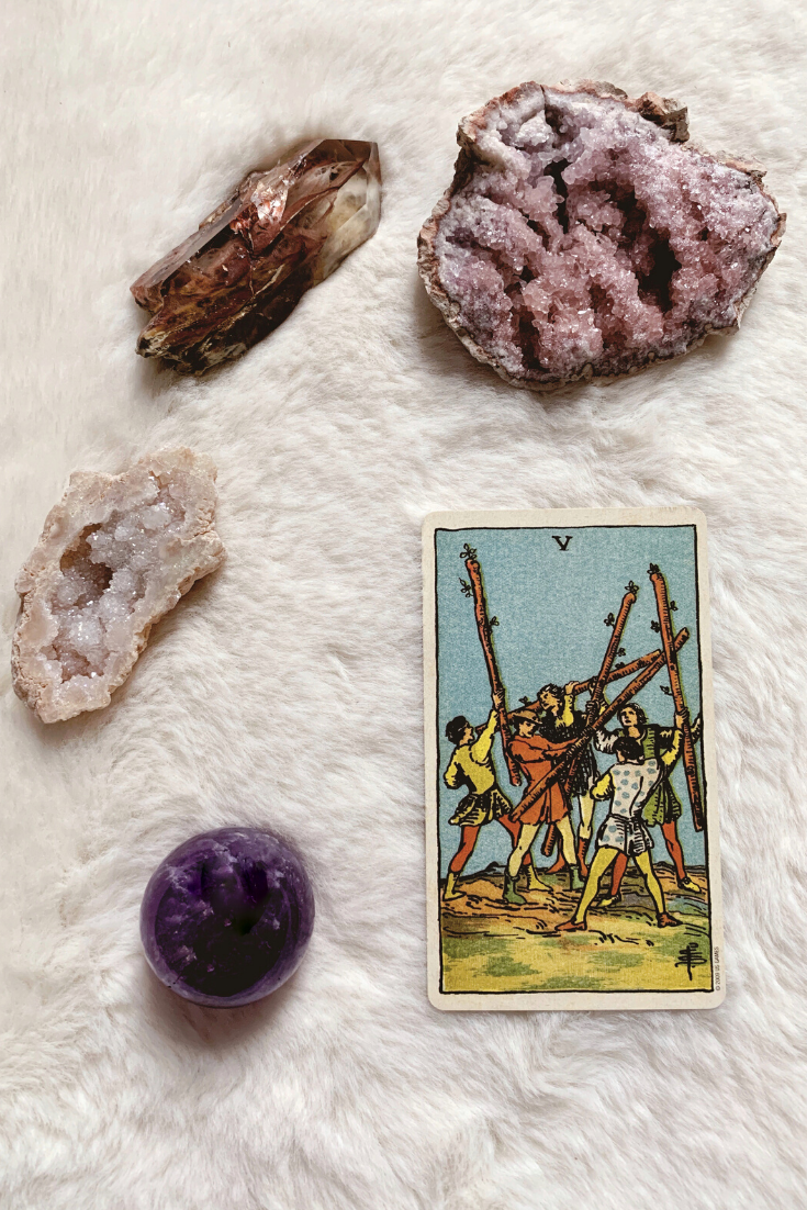The Five of Wands: Predictive Tarot Card Meanings — Lisa Boswell