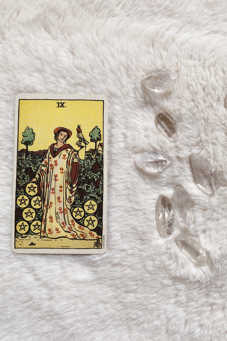 Nine of Pentacles: Predictive Tarot Card Meanings — Lisa Boswell