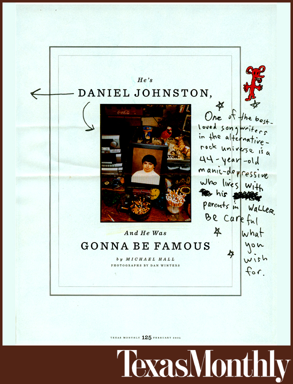 DANIEL JOHNSTON | TEXAS MONTHLY
