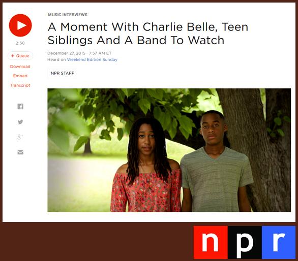CHARLIE BELLE | NPR