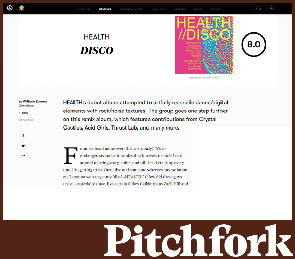 HEALTH | PITCHFORK