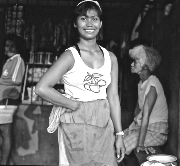 Barbecue Woman, Subic City, 1989