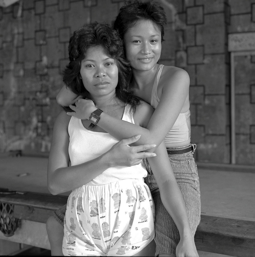 Two Friends, Pool Table, Subic City 1990