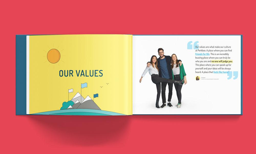 Perkbox Culture book 2018 - inside spread