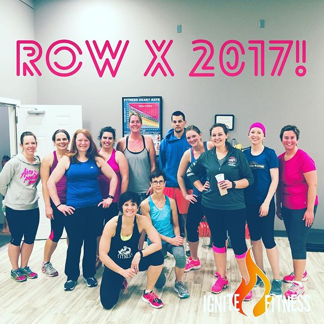 Kicking off 2017 right! Tonight's #rowX class killed it! #tabataworkout #ignitefitnessstudio #sweatyselfie #fitnessmotivation #fitmomlife