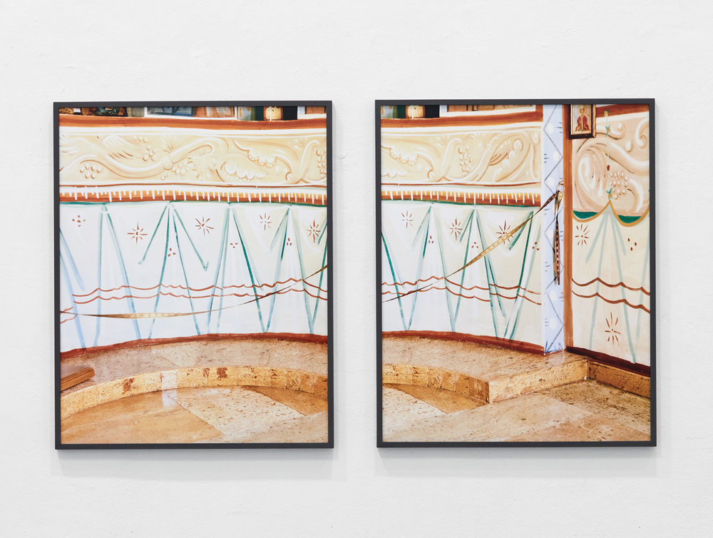 Fresco 1 & 2, 2016 C-Prints, each 90 x 72 cm