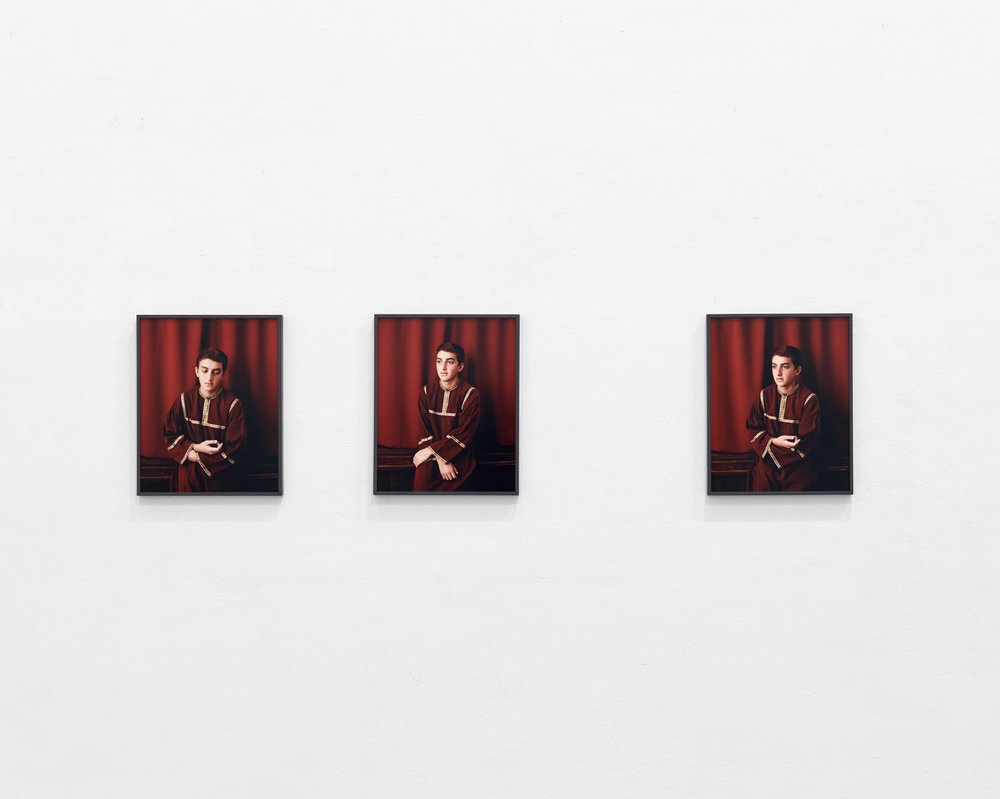 Boy in red 1-3, 2016 C-Prints, each 50 x 40 cm
