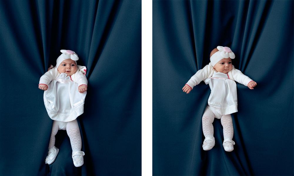Baby in Taufkleid 1 & 2, 2016 C-Prints, je 45 x 36 cm