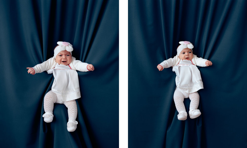 Baby in white 3 & 4, 2016 C-Prints, each 45 x 36 cm
