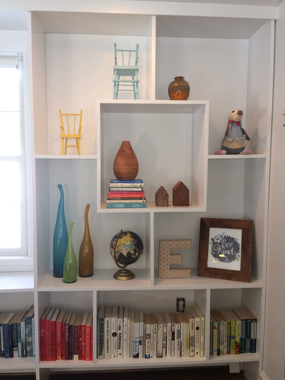 geometric bookshelves