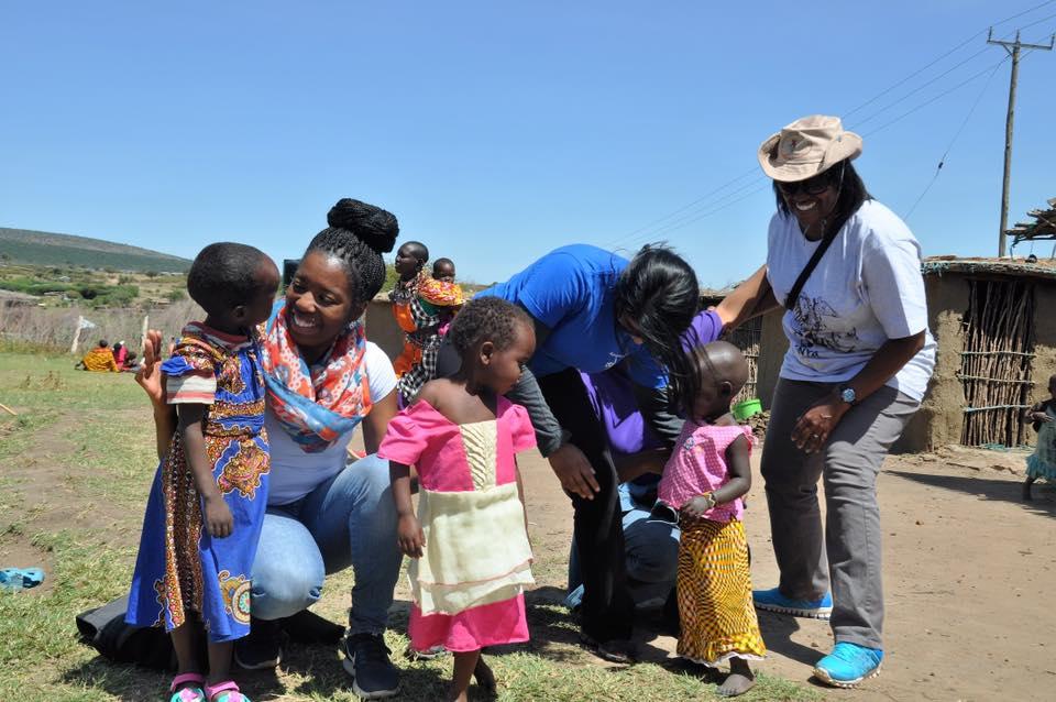 Ministering to children in Kenya