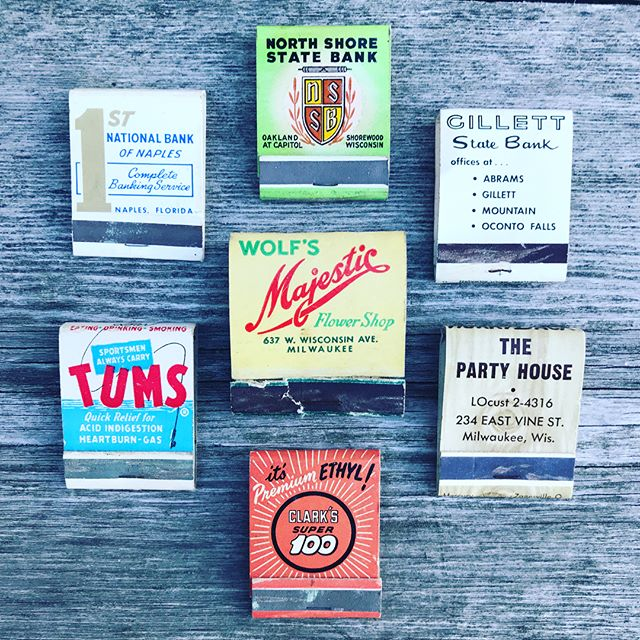 Today's match books wish they were this cool. #OldSchool #Matchbooks #CottageLife