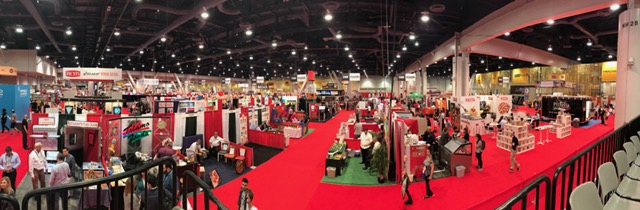 Panoramic view of the expo floor.