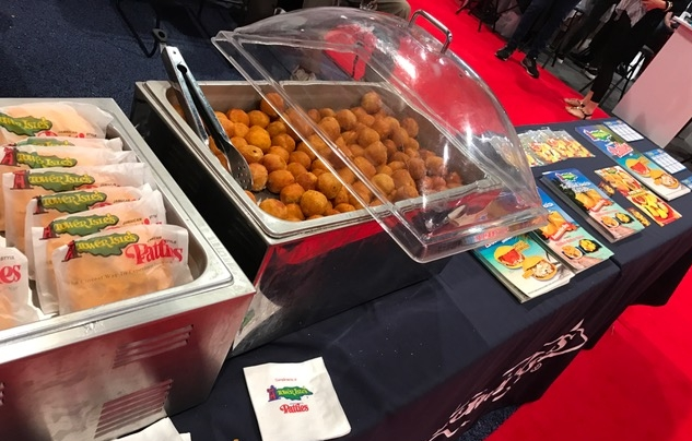 Quick glimpse of our table display. The Original Jamaican Style Patties (Mild Beef) and our mini potato balls with beef.