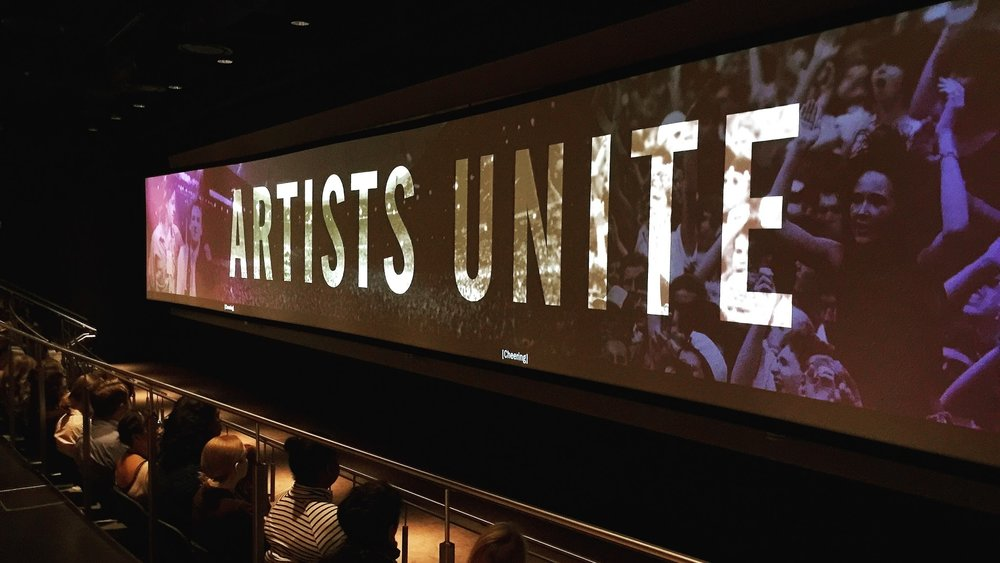 "Artists Unite  Role:   Producer / Writer / Art Director   Client/Production Company:   The Newseum & Rock & Roll Hall of Fame   Featured in:  ""Louder than Words""   exhibition at the Newseum and the Rock & Roll Hall of Fame"