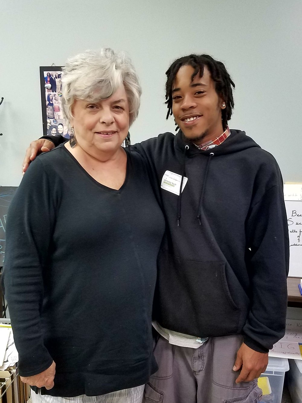 - Career planner Virginia Dever & KYCC student Shaquille Reed