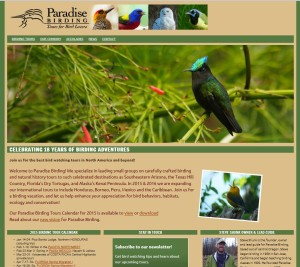 Website for Paradise Birding