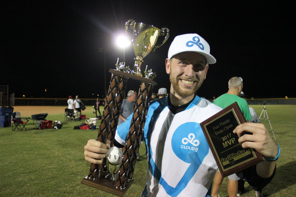 Already one of the game's most prolific pitchers, Sean Steffy secured a place in the record books by going 3-0 to lead Cloud9 to the 2017 Fast Plastic Texas Open title. In addition, Steffy took him tournament MVP honors. (Photo: Sean Steffy)