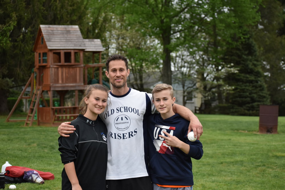 All in the family - the New School Risers battled through a very competitive tournament field to finish in 2nd place. (L:R Kyleigh, Dave, and Matt Capobianco).