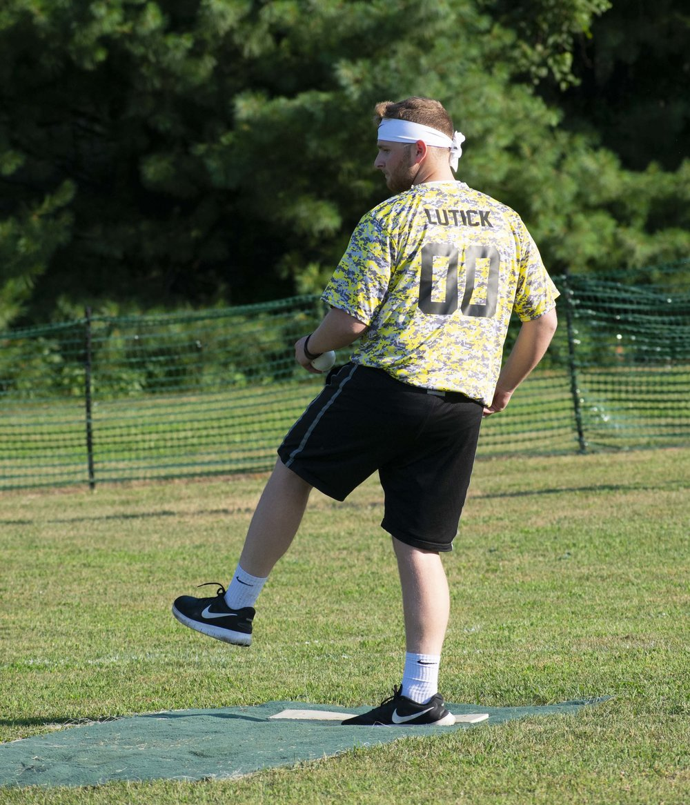 Ray Lutick (Lemon Heads) worked every inning for his and allowed just two runs at  Wiffle Bash .