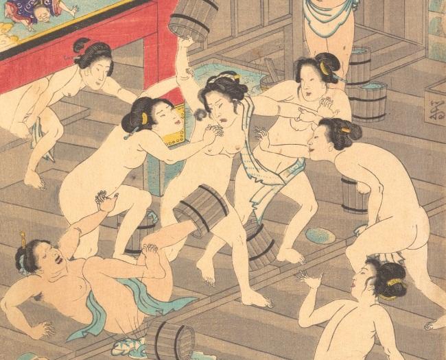 Naisten kylpy.