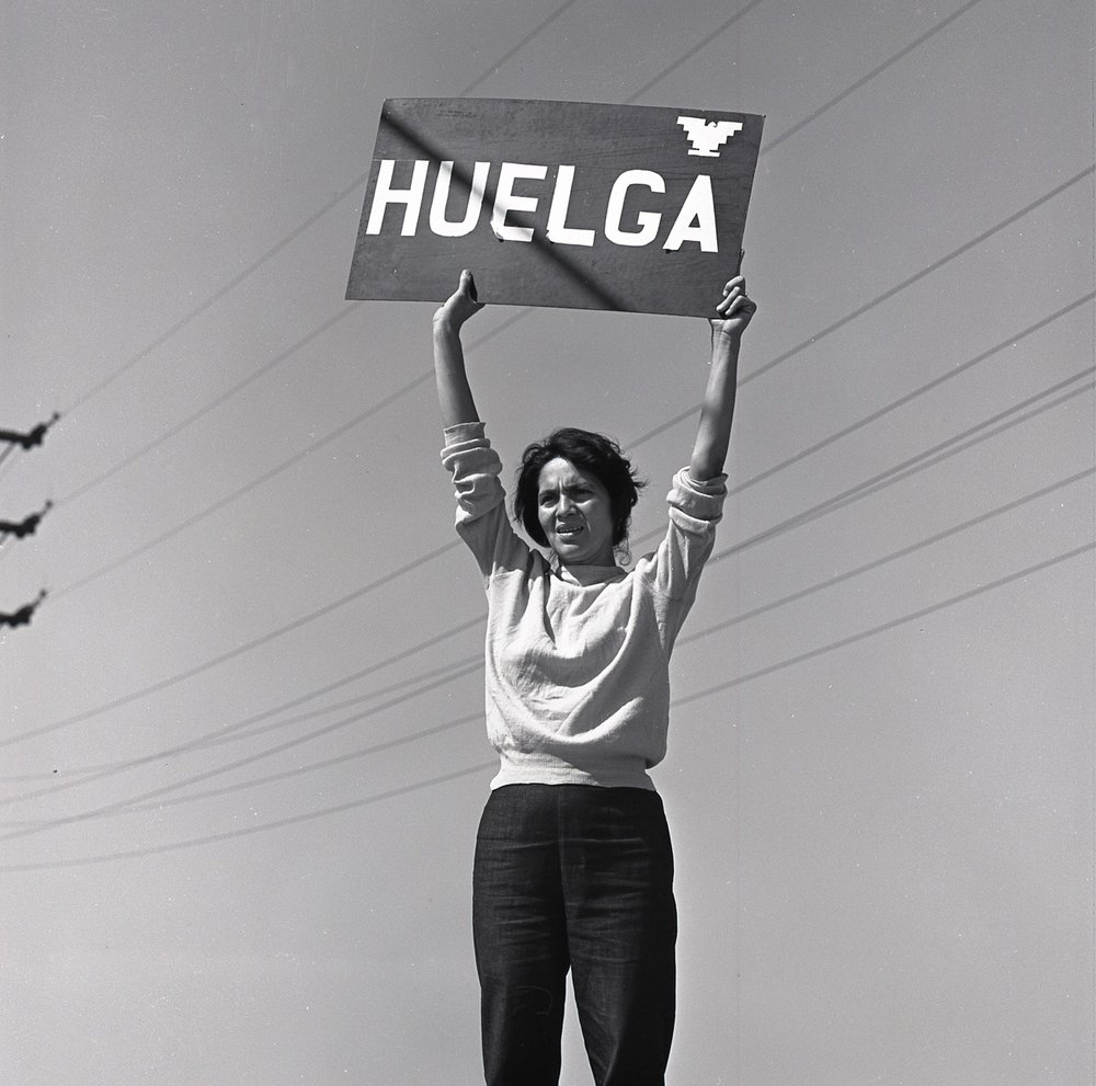 Harvey Richards [September 24, 1965, Delano, CA, Grape Strike, Dolores Huerta] © Harvey Richards Media Archive