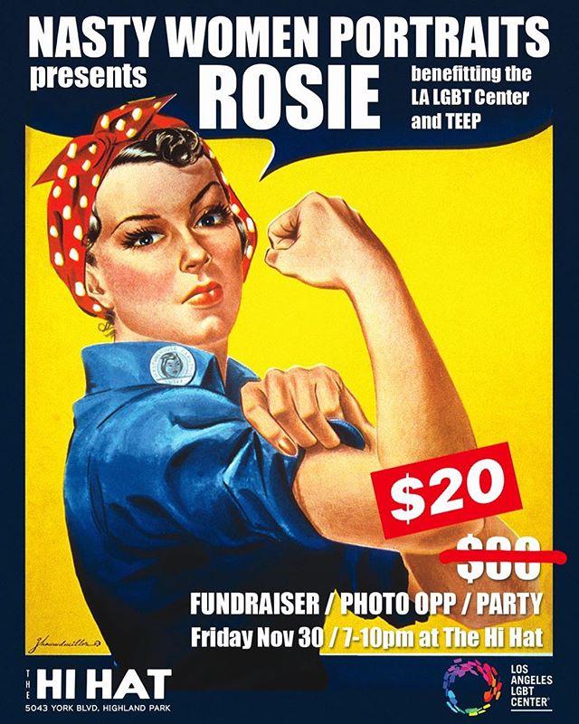 Nasties! We still have some Early Bird tickets available! Save that money! (link in bio) . . . . #savethatmoney #nastywomenportraits #nastywomen #rosietheriveter #rosie #nastywomenportraitspresentsrosie #feminist #feminism #activist #activism #wecandoit #lgbtqia #lalgbtcenter #lgbt #thehihat #LA #losangeles #💪💪🏻💪🏼💪🏽💪🏾💪🏿 #🌈 #🎟