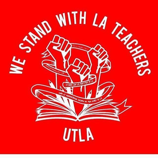 We Stand With LA Teachers @utlanow #✊🏻✊🏼✊🏽✊🏾✊🏿 . . . #utlanow #strikeready #WeAreLA #red4ed #redfored #stopstarvingourpublicschools #allin4respect #wearepublicschools #kidsfirst #teacherstrike #nastywomenportraits #nastywomen #activism #activist #resist #resistance #strike #feminist #feminism