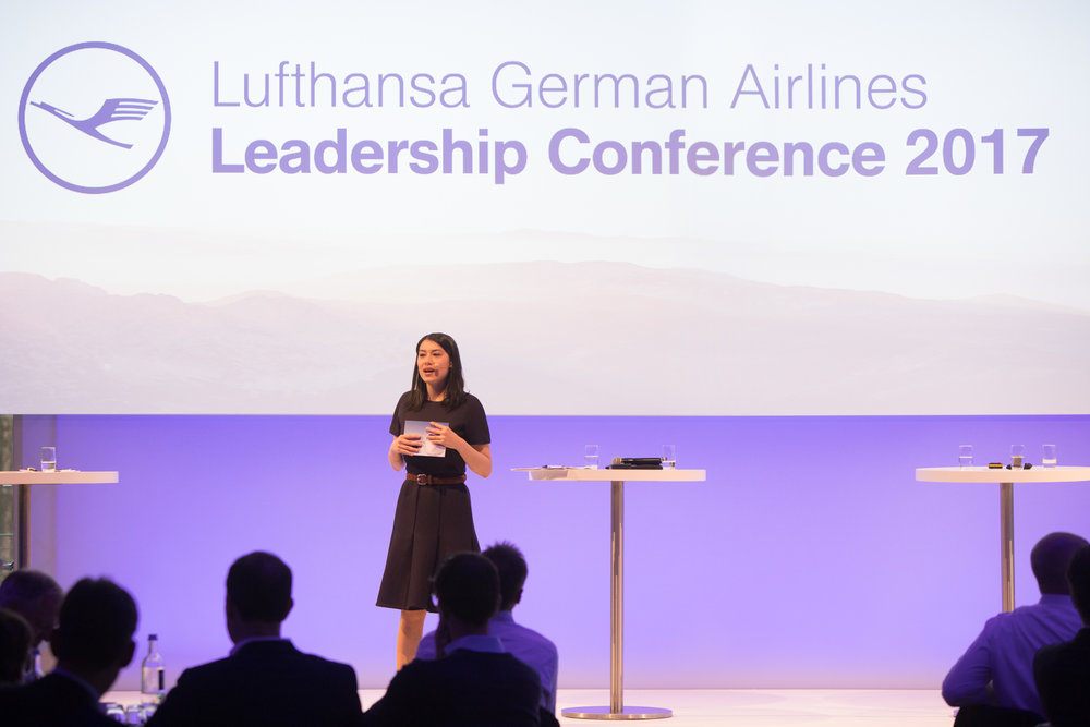 Hosting the Lufthansa Leadership Conference in Frankfurt 2017. (Photo: Patrick Kuschfeld)