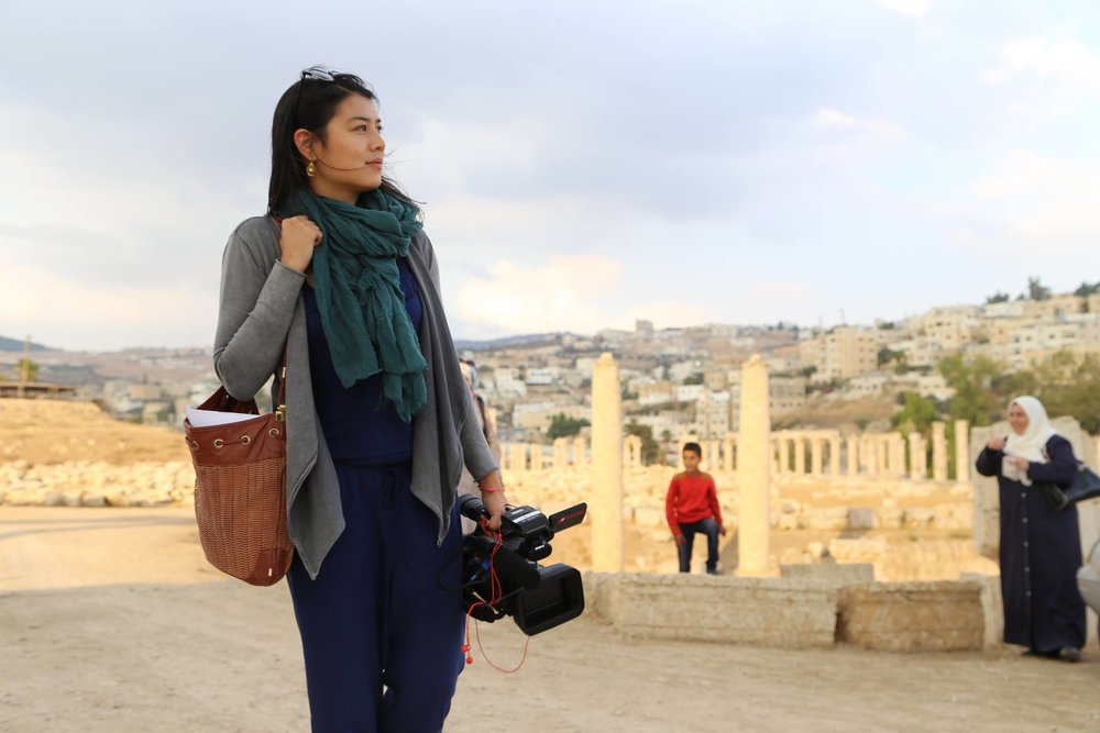 Shooting a story in Jerash, Jordan 2014.