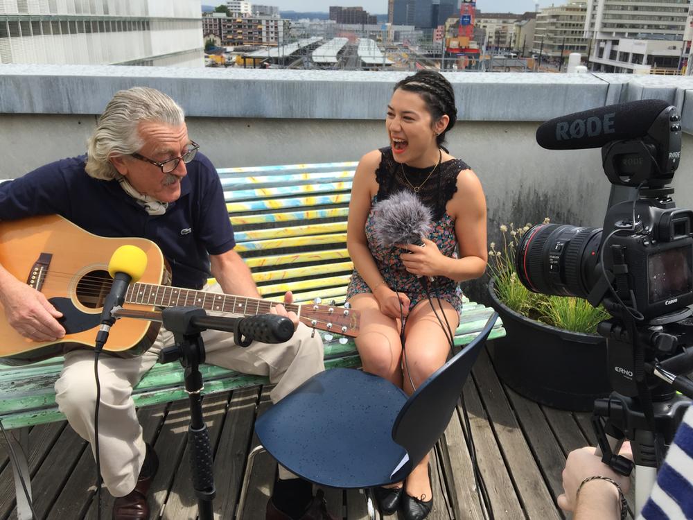 Interviewing Dieter Meier for  BalconyTV Zurich  (2015).