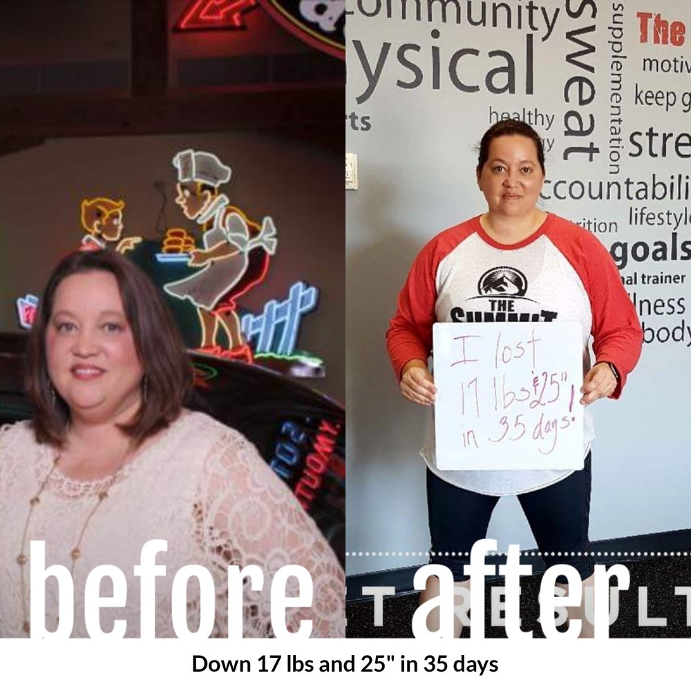 Lost 17 lbs and 25 total inches in 35 days - Rhonda Kuykendall, Fulshear, Texas