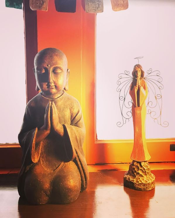 Hot Yoga Helena buddha angel.JPG