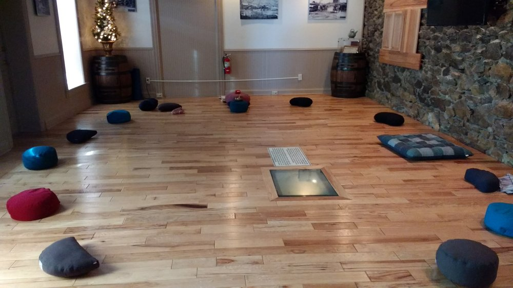 Our Merlin/Mindful Montana courses are held in this beautiful space at Reeder's Alley. Chairs are also always available both here and at Hot Yoga Helena.