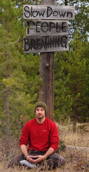 The author meditating near Polebridge, Montana, 2009.