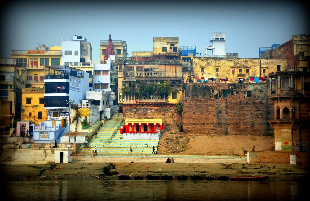 a view of Varanasi from the Ganges river.JPG